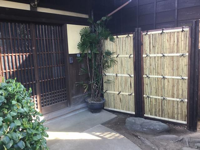 個人邸 竹垣設置事例
